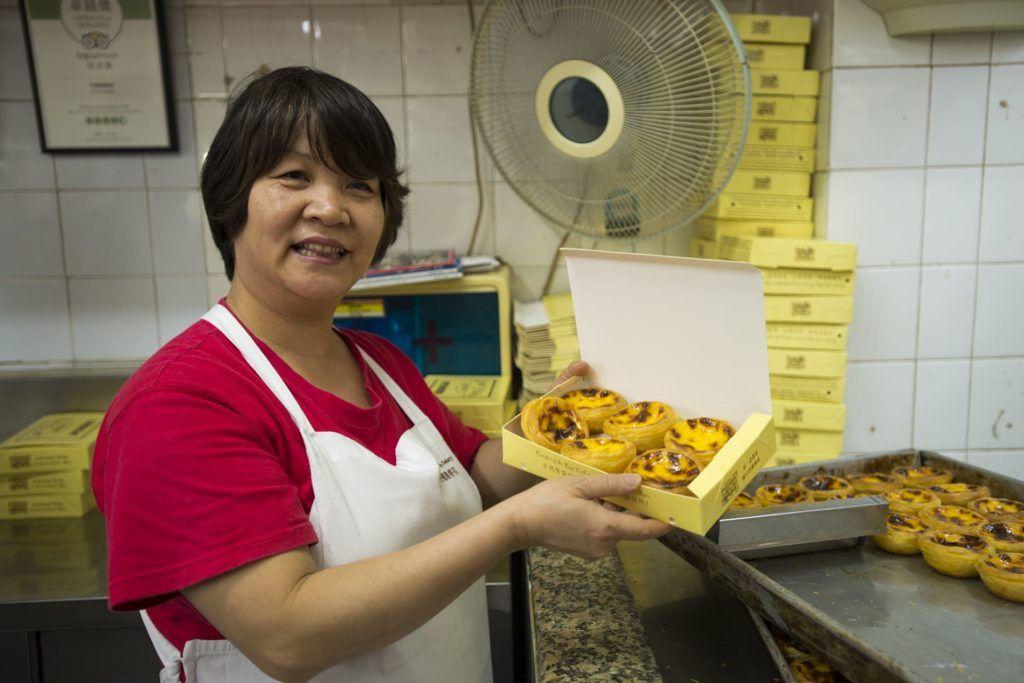 Pasteles de Belén en Coloane (Macao)