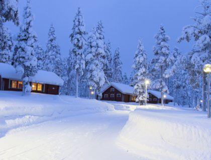 Alojamiento en cabañas en Laponia