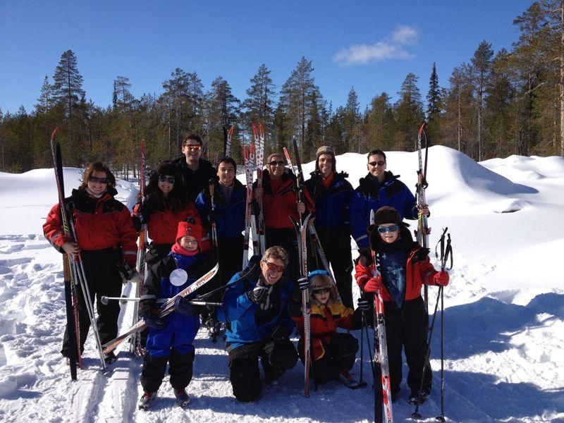 Esquiar en los paisajes de Laponia finlandesa