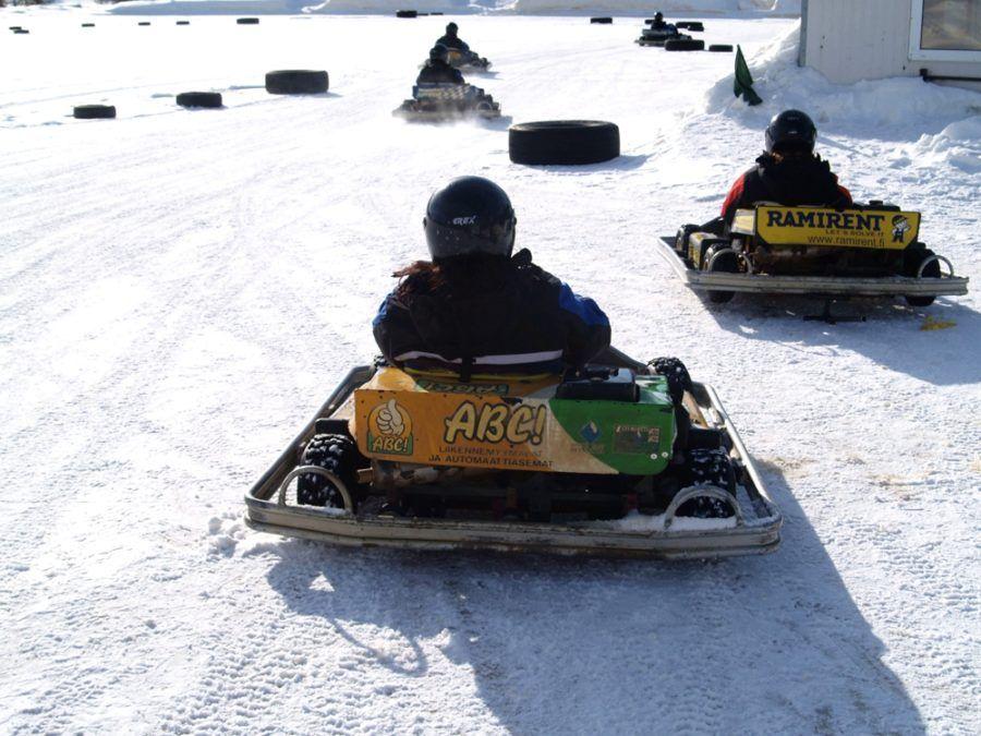 Carreras de karts en Laponia