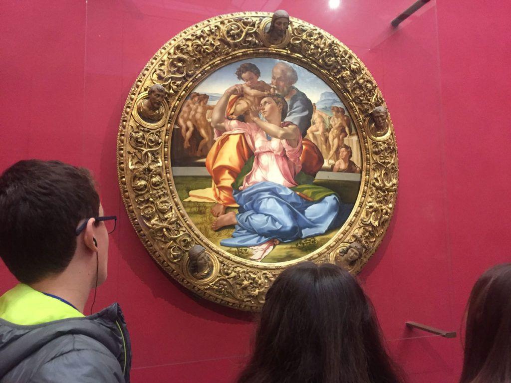 Florencia en familia arte Miguel Angel