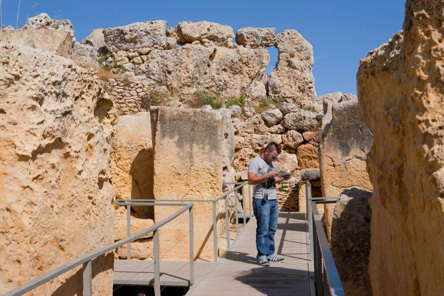 Viaja sola a Gozo y Malta templos de Ggantija