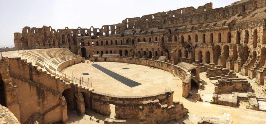 Anfiteatro de El Jem, restos romanos en Túnez
