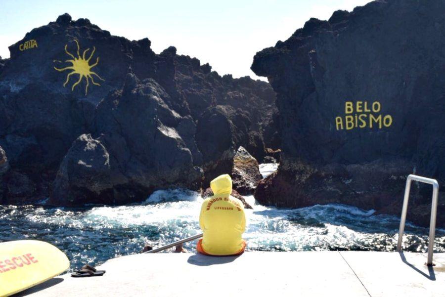 Terceira en familia niños mar Azores