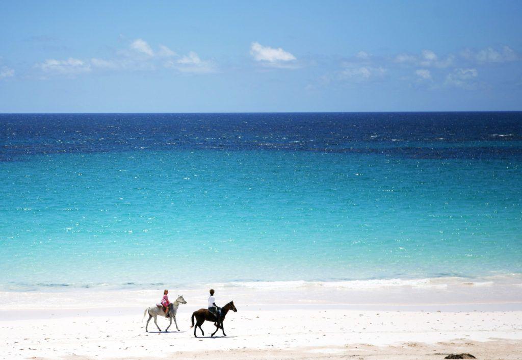 Pink Sand Beach visita obligada en Harbour Island para mujeres que viajan solas