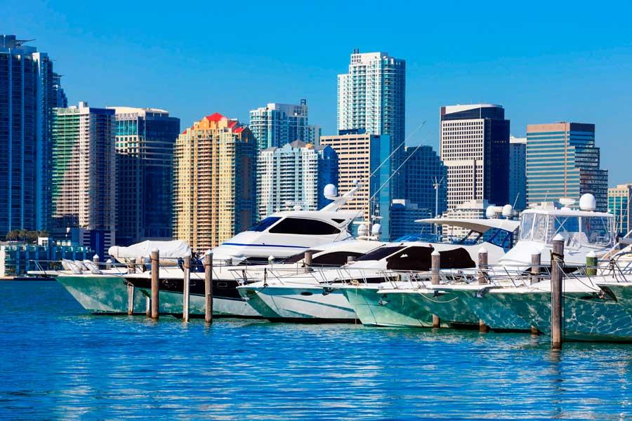 alquilar un yate en Miami