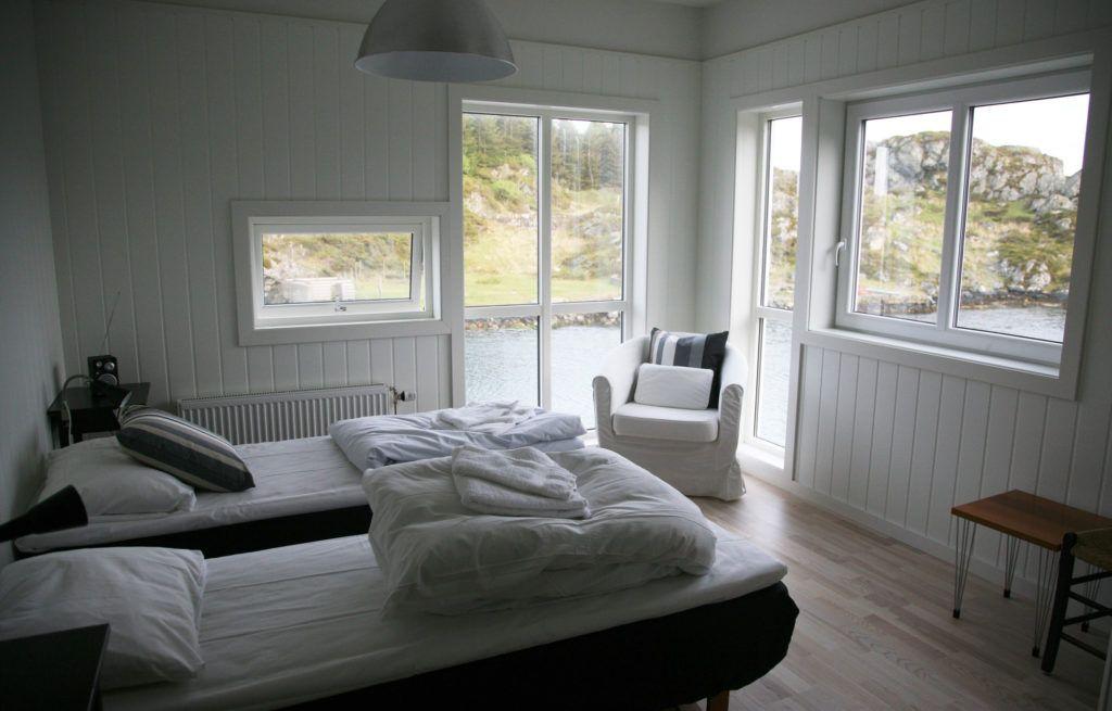 Habitación del Hotel Kultur -Hotell, en la isla de Rovaer Noruega