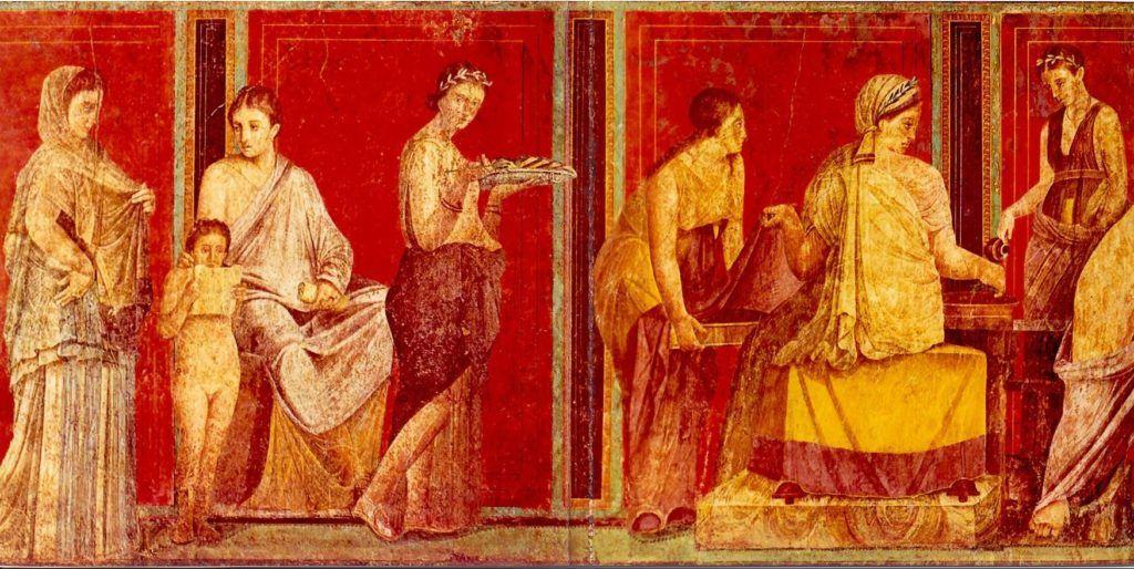 Frescos romanos la Villa de los Misterios