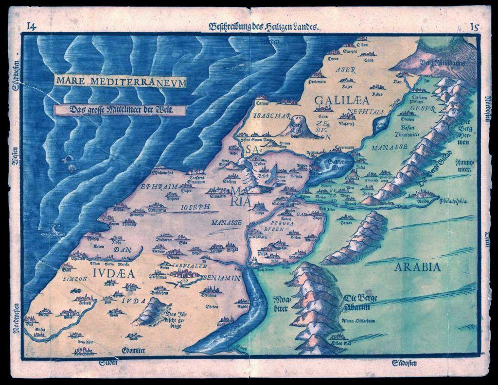 mapa de egeria primera viajera espanola