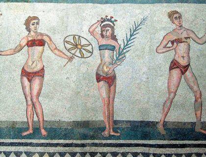 villa romana casale viaje arte mujeres