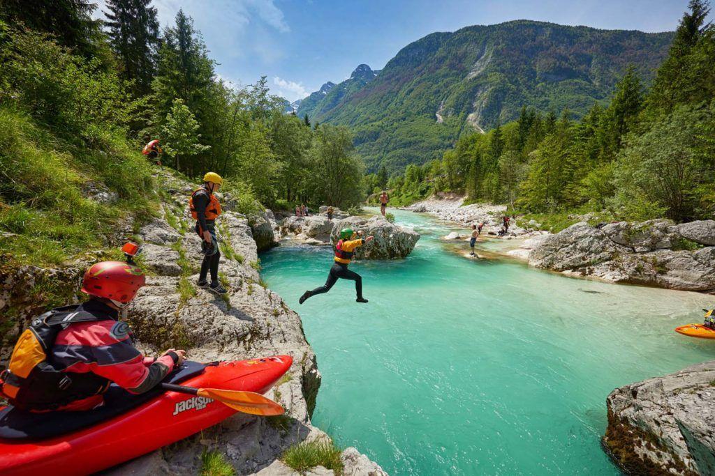 deportes de aventura en soca eslovenia