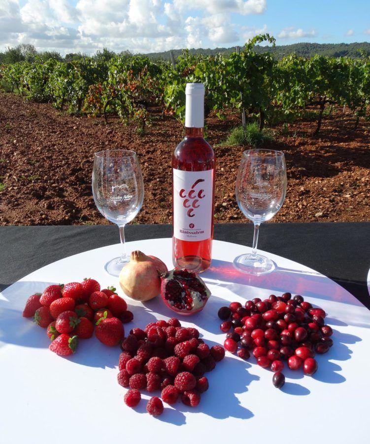 Vino rosado Enoturismo Binissalem Mallorca