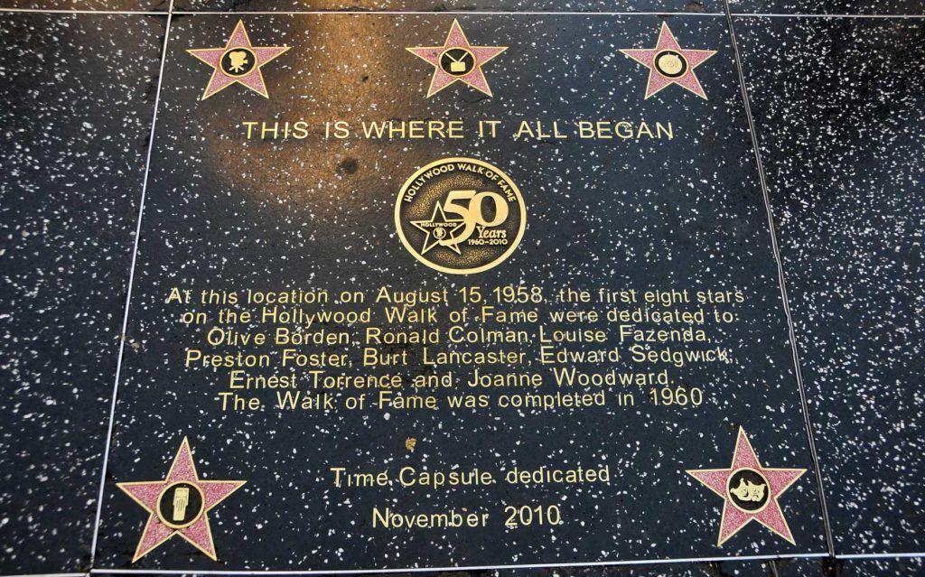 placa this is where it all began paseo de la fama los angeles