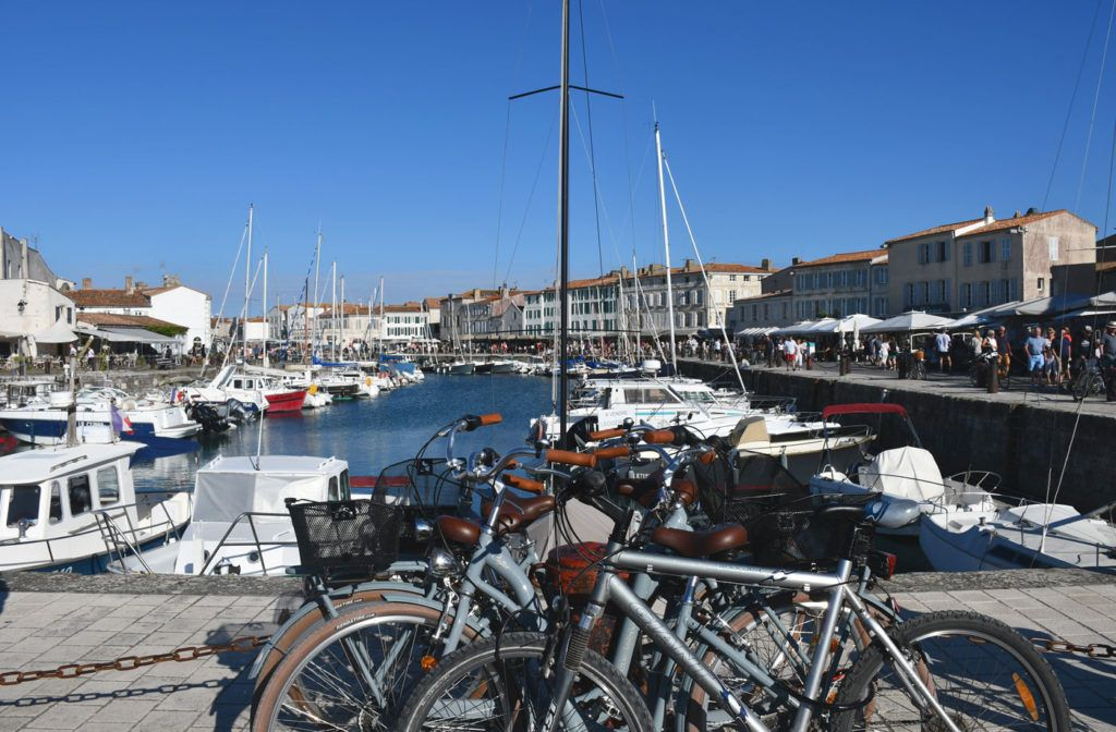 Puerto de Saint-Martin-de-Ré.