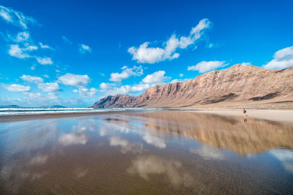 playa de famara plan en lanzarote