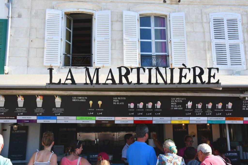 Heladería La Martinière en la isla de Ré