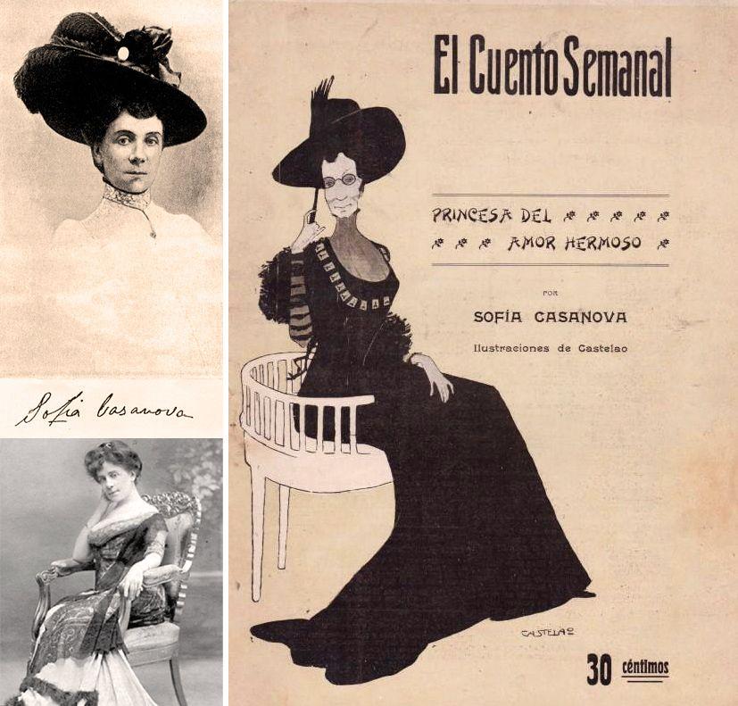 vida obra sofia casanova poeta gallega