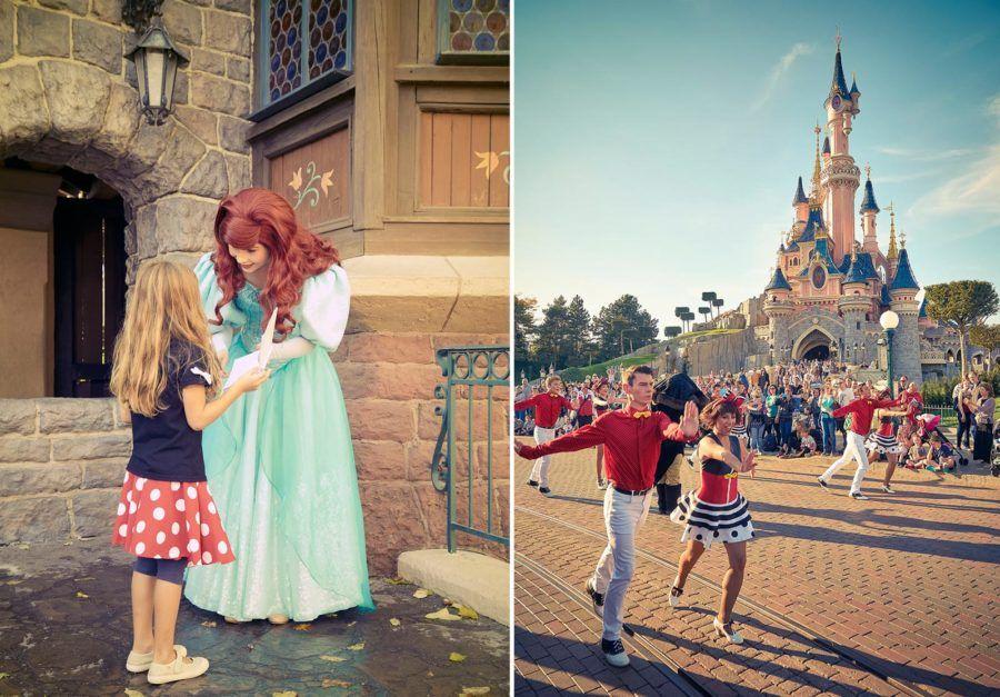 Encuentro con personajes en Disneyland.