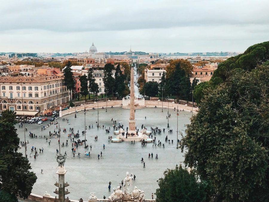 piazza popolo, visitas en roma, viajes con amigas en roma