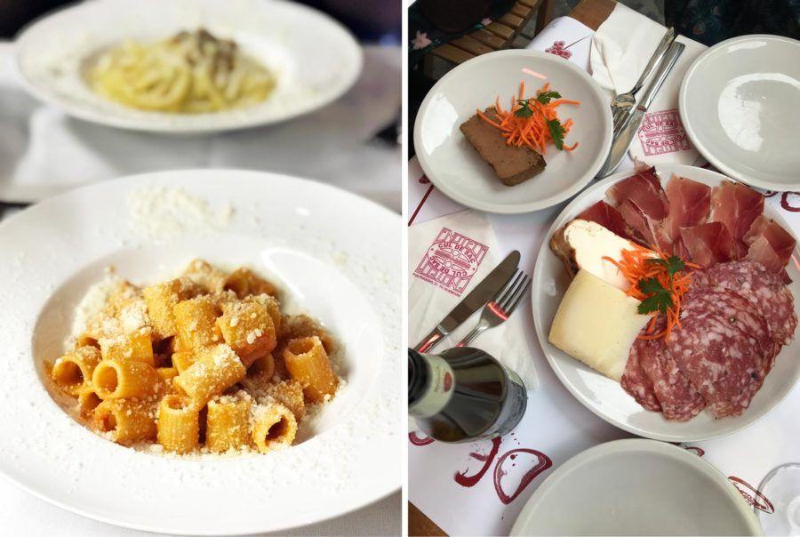 donde comer en roma, viaje con amigas a roma, gastronomia en roma