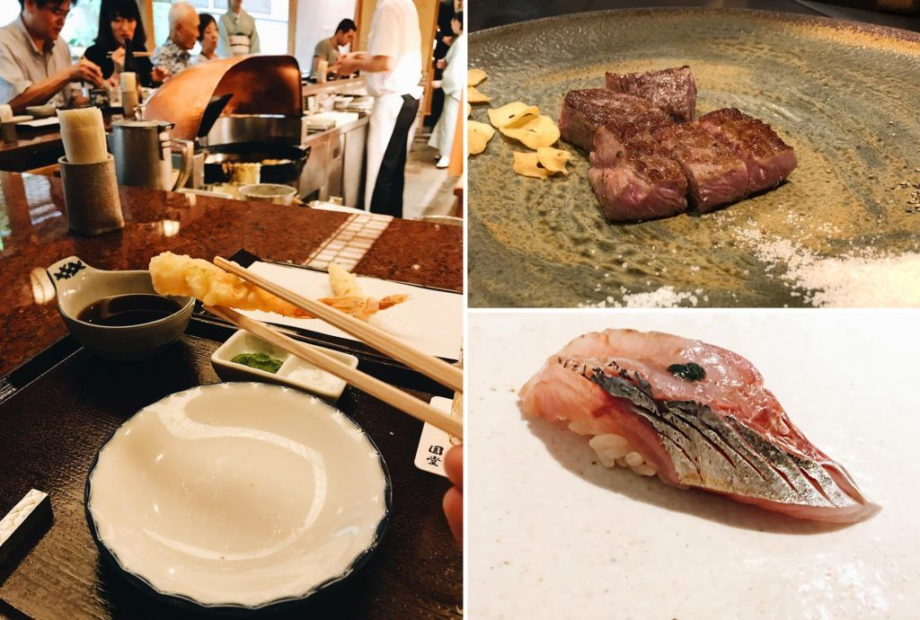 comer en japon, sushi en tokio, tempura de endo yasaba