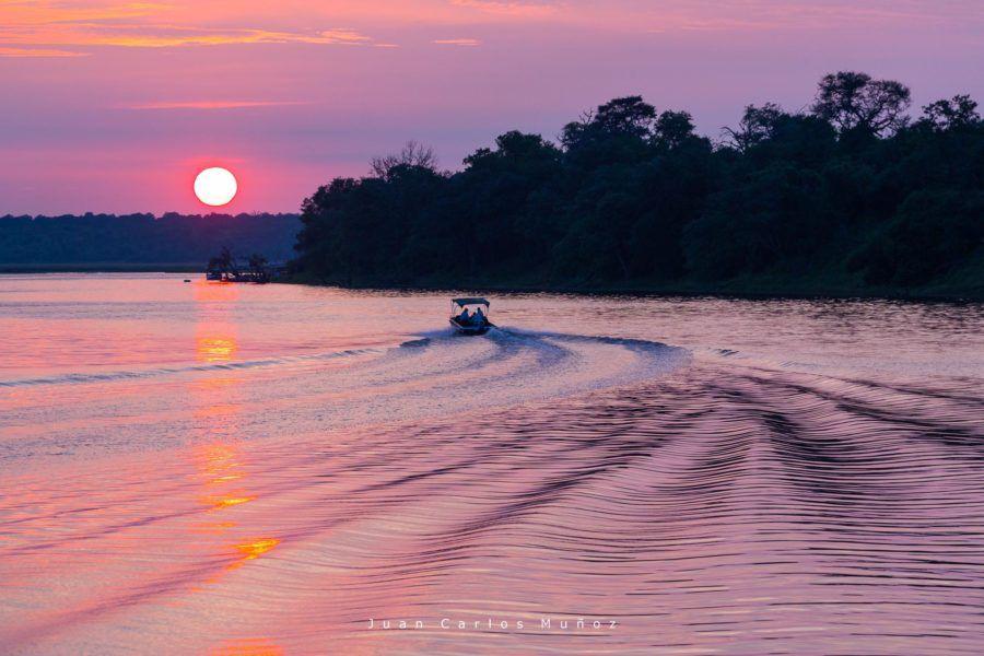 amanecer en el rio chobe, fauna de africa, safaris en bostuana, viajes naturaleza, viajes para mujeres