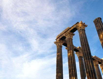 templo romano, viaje a evora,