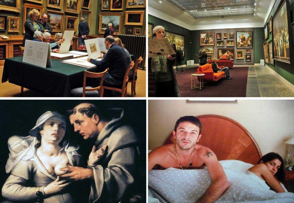 Museo Frans Hals, Teylers Museum, Sala Aquarellenzaal, Museo Frans Hals, Un monje y una monja, de Cornelis Van Haarlem y Latido de corazon, de Nan Goldin.