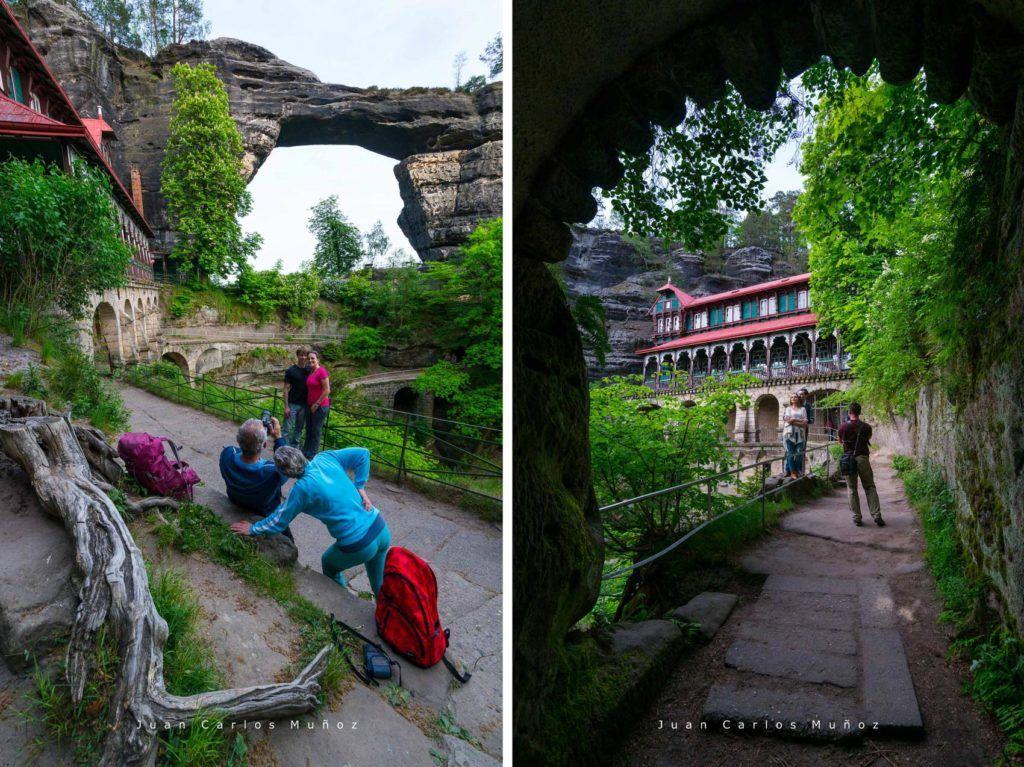 viajes mujeres republica checa, que ver en bohemia suiza, arco pravcicka