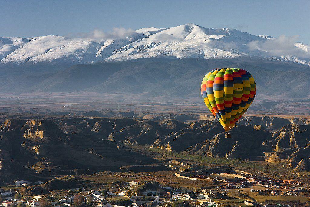 vuelo en globo granada, nieve sin esquiar, que hacer en la nieva si no esquias