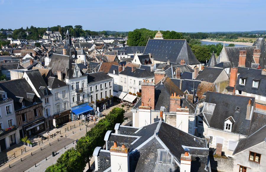 Vista de Amboise desde el castillo.