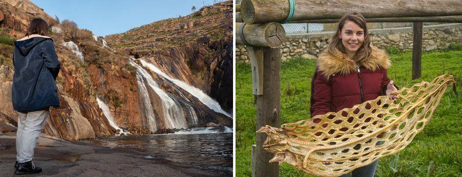 cascadas ezaro, lemar elaboraciones artesanas, camino santiago