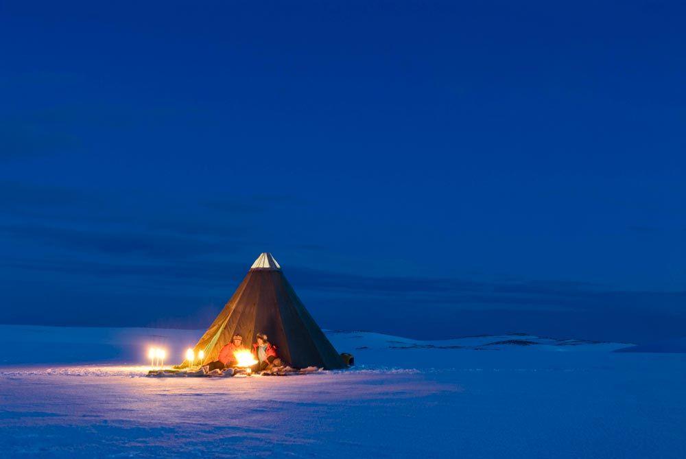 Lavvo on the Finnmark mountain plateau