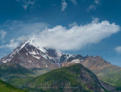 Kazbegi Peak and Glacier, Kazbegi Reserve, Georgian Military Highway, Mtskheta-Mtianeti Region, Georgia, Middle East