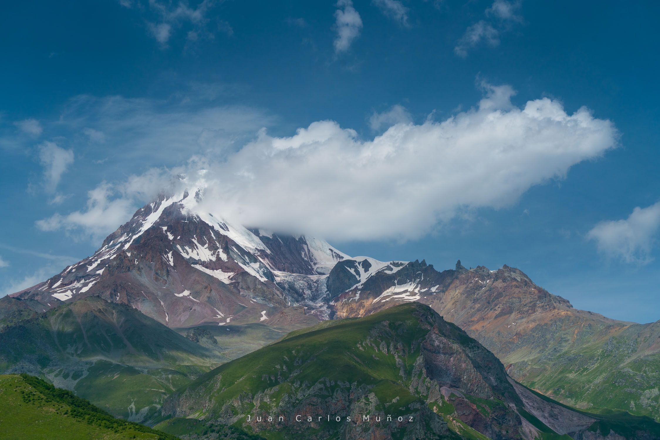 Kazbegi Peak and Glacier, Kazbegi Reserve, Georgian Military Highway, Mtskheta-Mtianeti Region, Georgia, Middle East