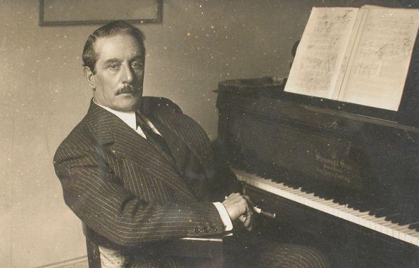 Imagen de Puccini en su casa museo