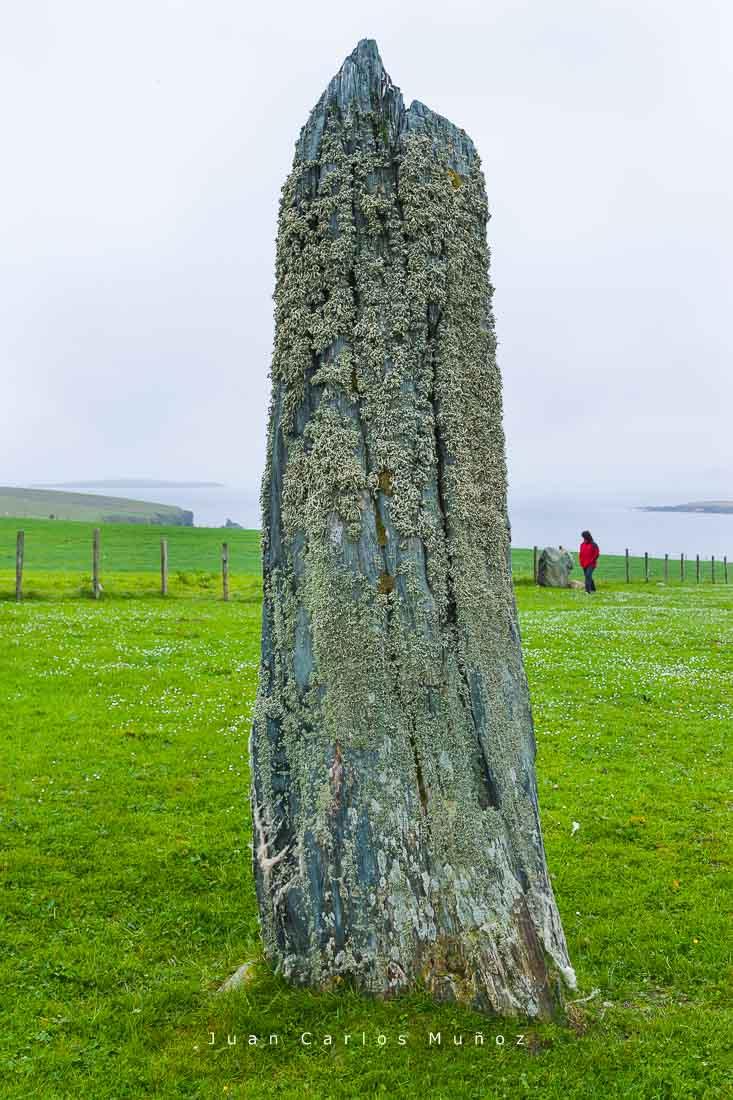 menhir, islas fetlar, viaje shetland, viaje escocia