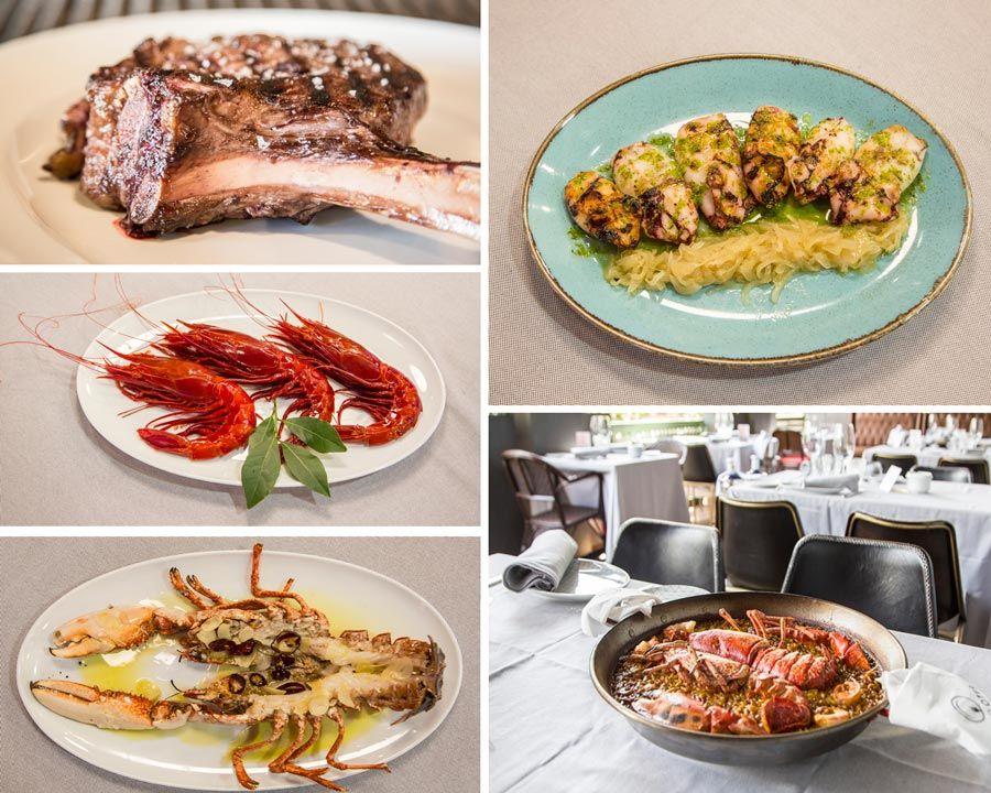 Platos restaurante pez fuego