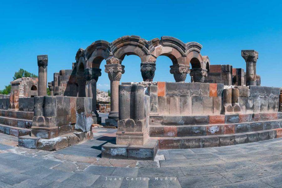 viaje Armenia, Zvartnots Cathedral, Etchmiadzin City, Armavir Province, Armenia, Middle East