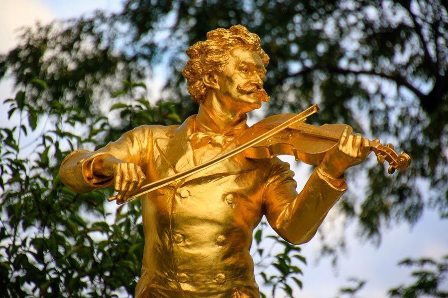 violinista dorado en Viena