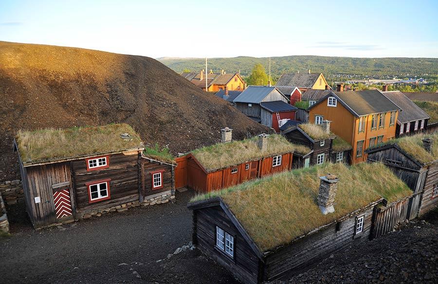 roros, noruega, viviendas mineras