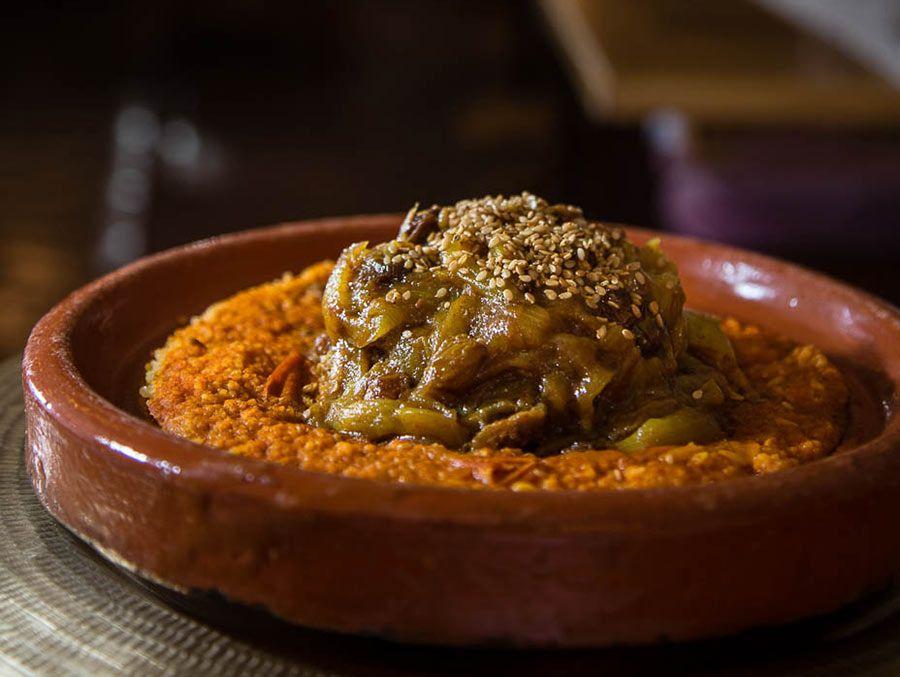 Delicioso cuscus agridulce de El Jardín del Califa.