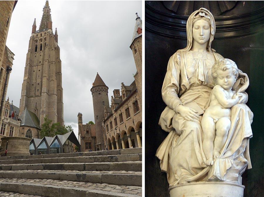 Viaje de mujeres a brujas, que ver en brujas, mujeres de flandes belgica, virgen con nino miguel angel