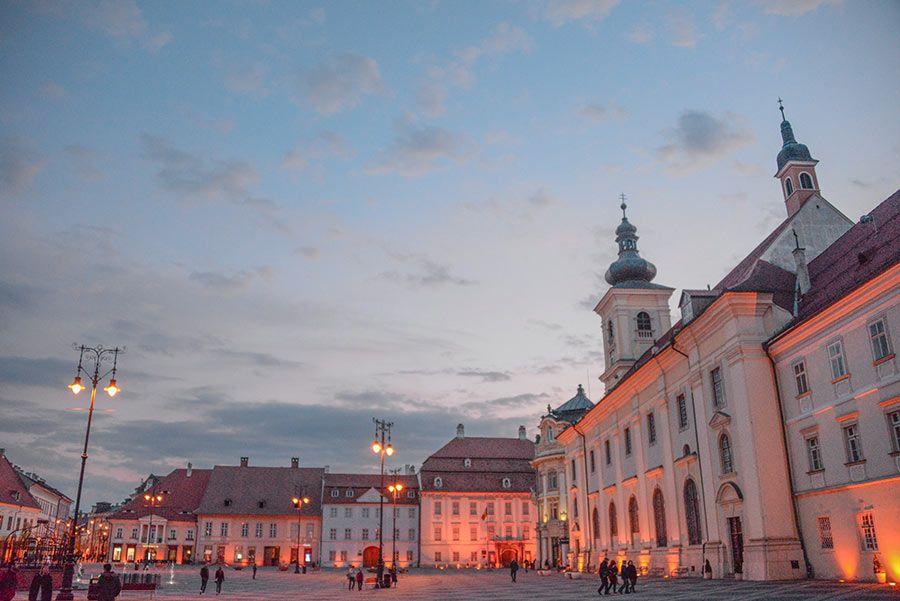 Piata Mare, en Sibiu.