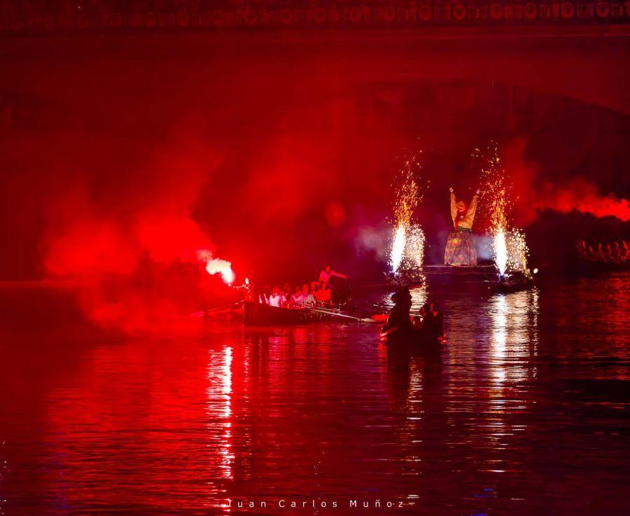 """Quema de Marijaia"" (Burning Marijaia) , Aste Nagusia (English: Great Week) the main festival of Bilbao, Bizkaia, Basque Country, Spain, Europe"