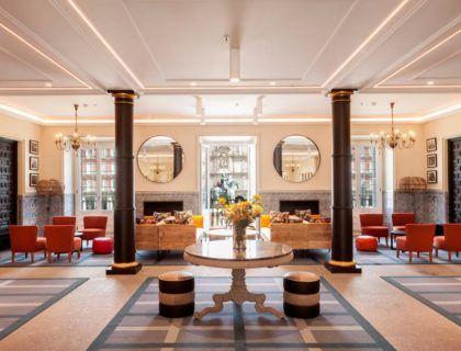 salon de columnas, hotel plaza mayor madrid
