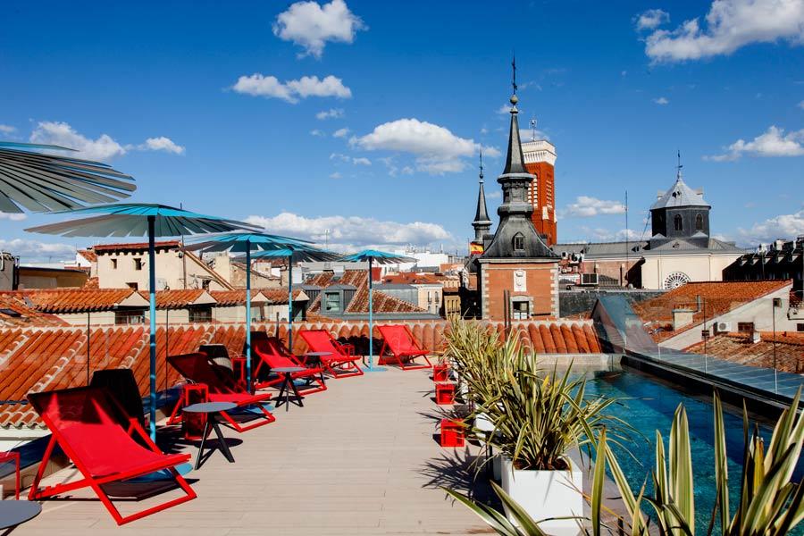 piscina hotel plaza mayor madrid