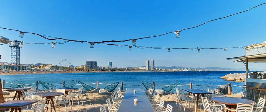 salt, chiringuito de Barcelona