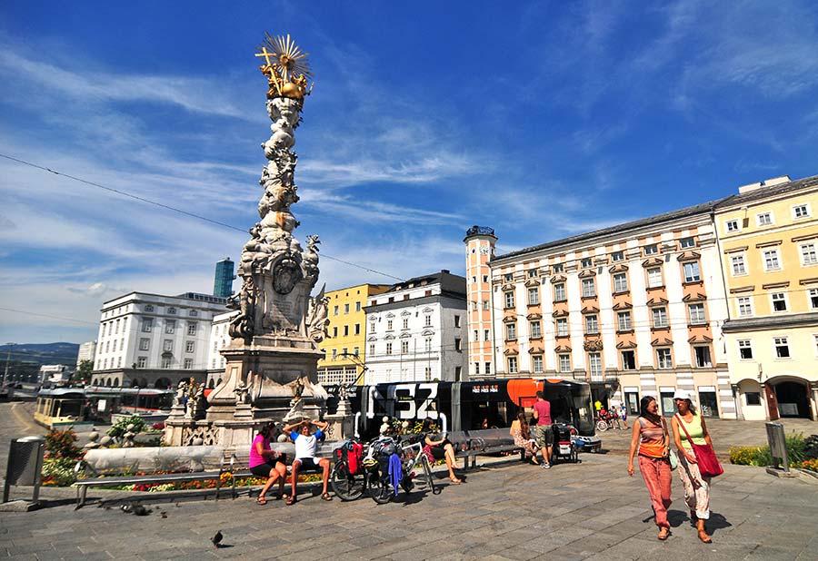 Hauptplatz, linz, que ver en linz, calles de link, visitas de Linz, viaje a austria