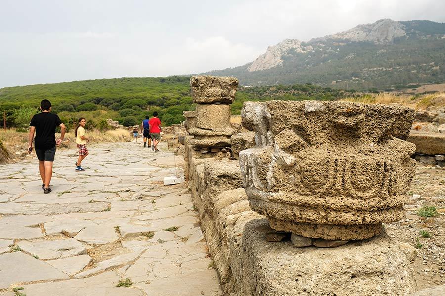 calzada romana, baelo claudia, ruinas bolonia